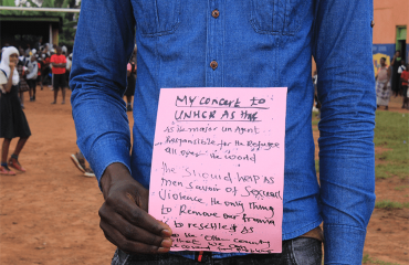Participant showing his message3