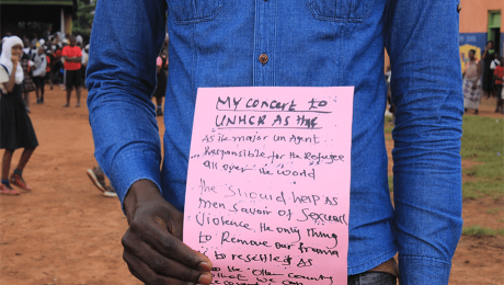 Participant showing his message3