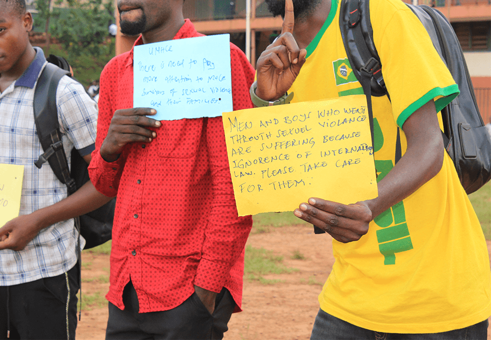 Participants showing their messages1