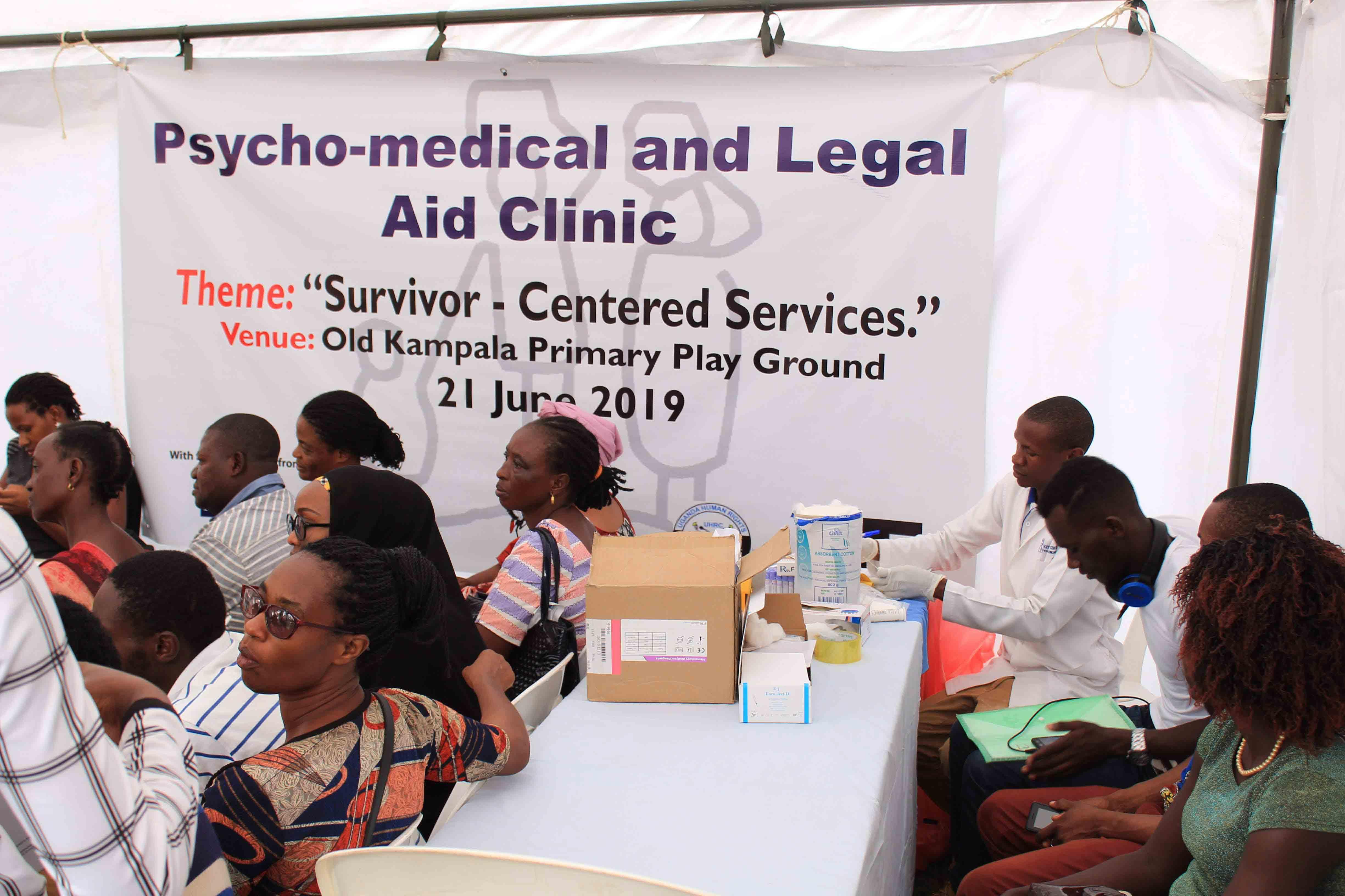 Participants waiting for medical examination